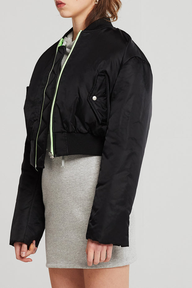 Nova Cropped Bomber Jacket