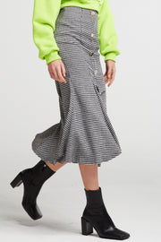 Parker Houndstooth Mermaid Skirt