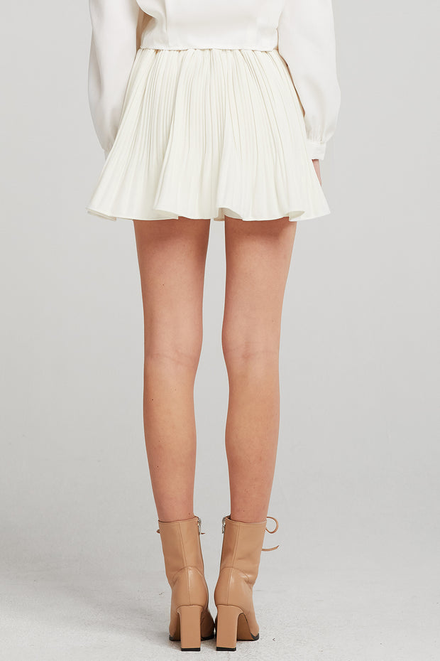 Alexa Flared Pleated Skort