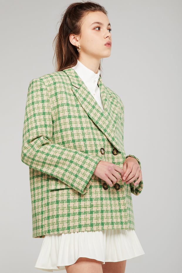 Caroline Oversized Plaid Blazer