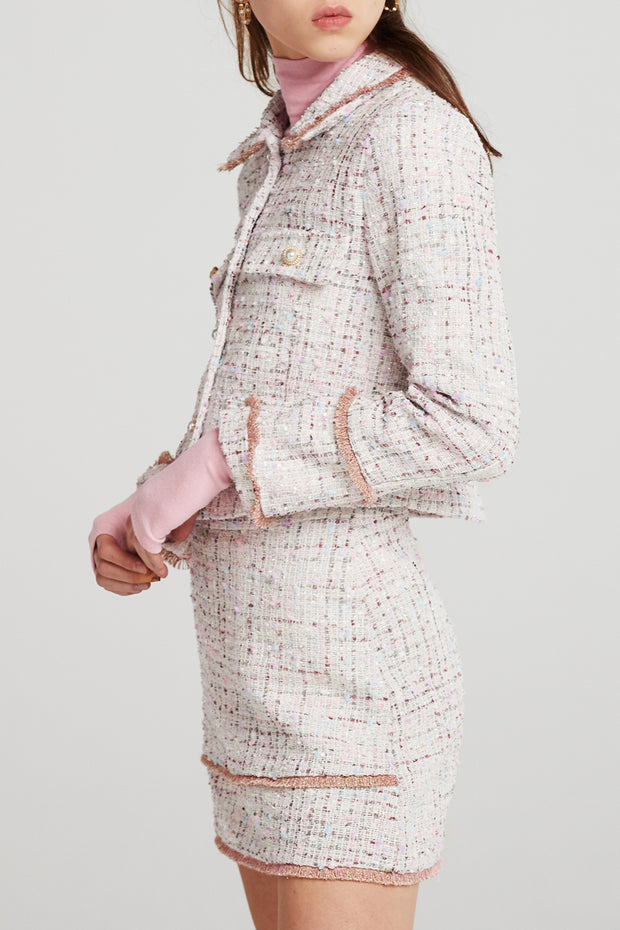 storets.com Arden Gold-Trim Tweed Jacket