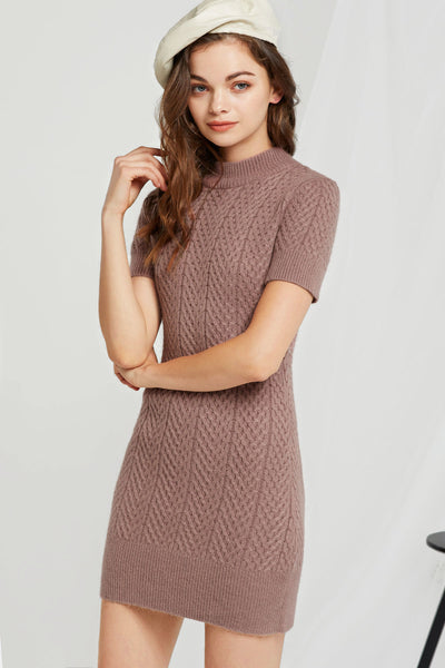 Sara High Neck Knit Dress