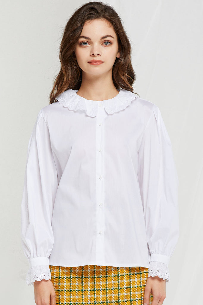 Myrtle Scalloped Blouse