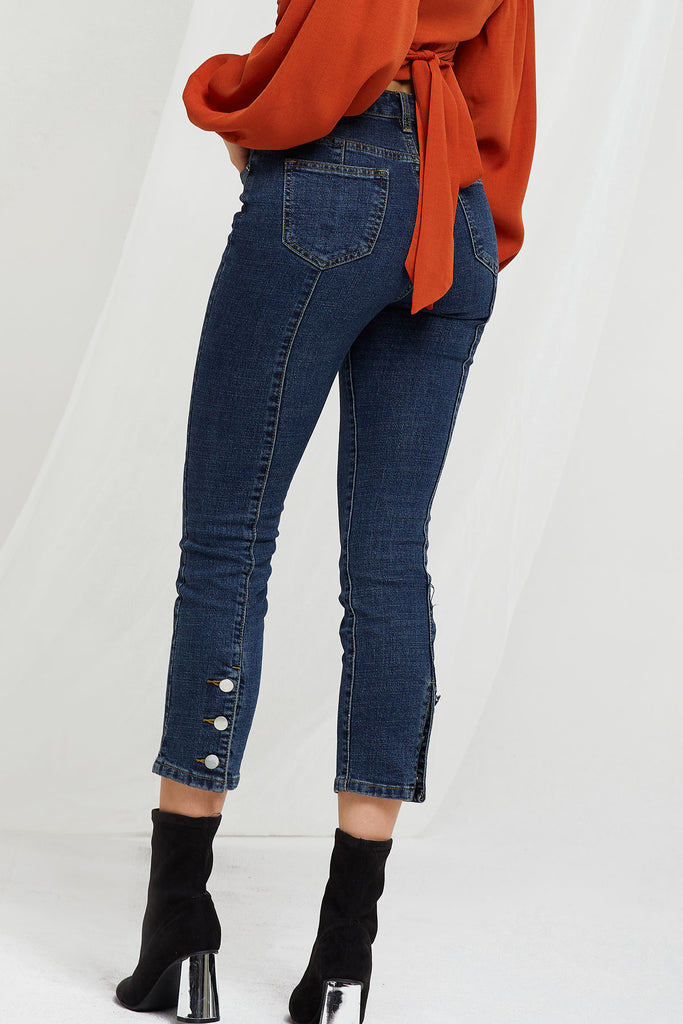 Libby Buttoned Jeans (Pre-Order)