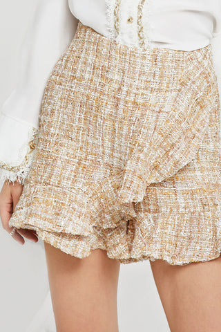 Cody Ruffled Tweed Skort-2 Colors