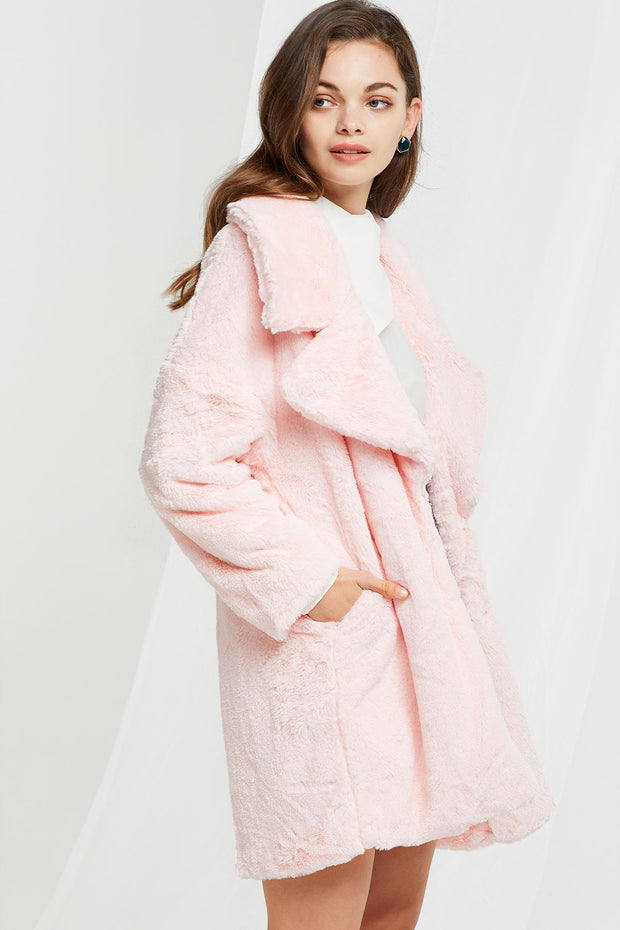 Jane Plushy Oversized Coat