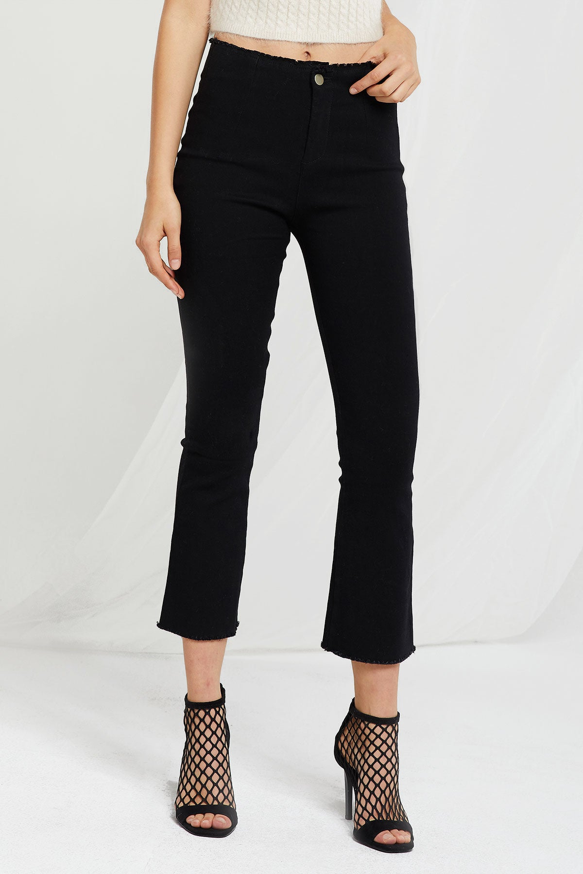Taylor Fringed Straight Leg Pants (Pre-Order)