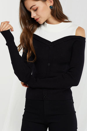 Paulina Layered Mockneck Sweater (Pre-Order)