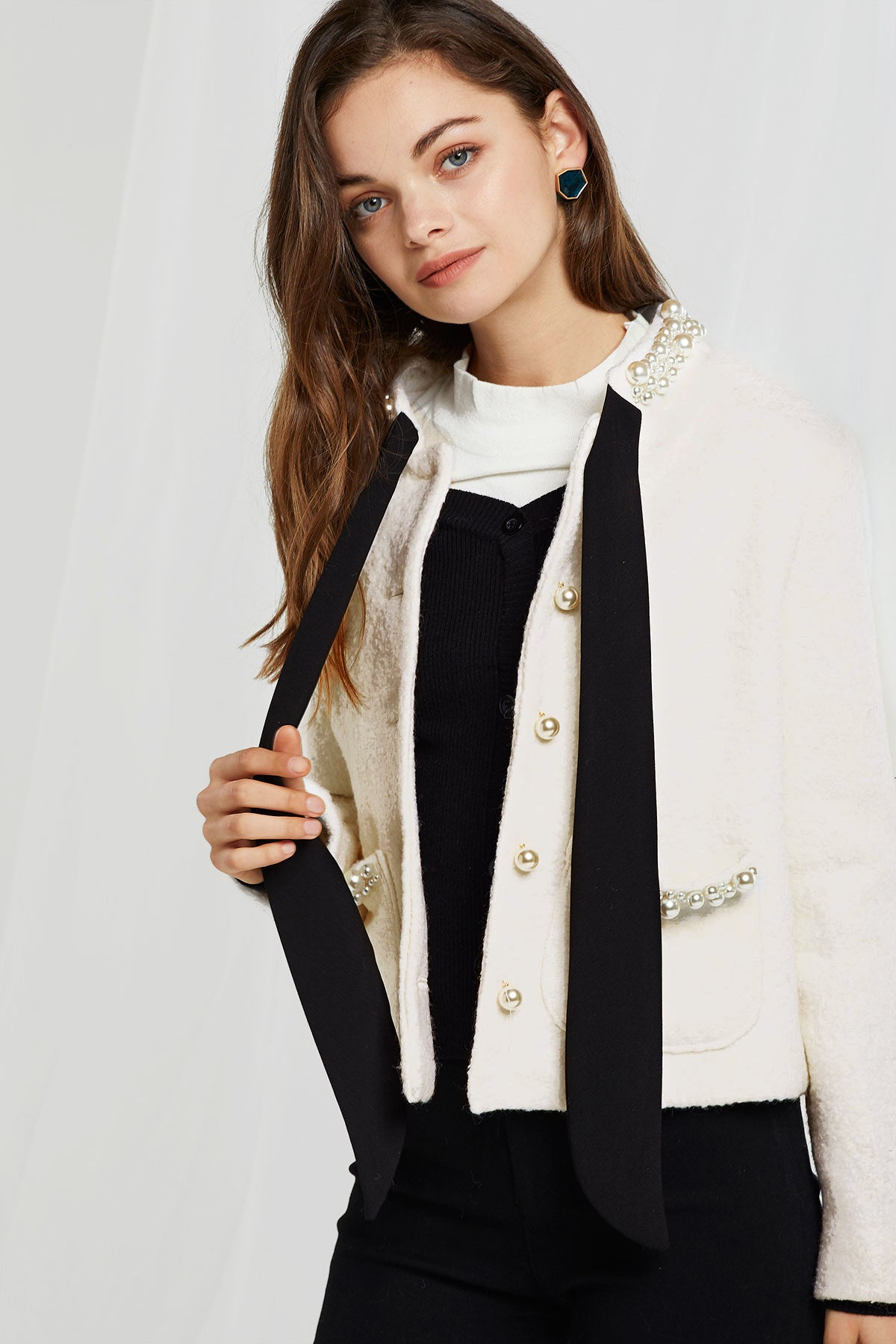 Amelia Pearl Embroidered Jacket (Pre-Order)