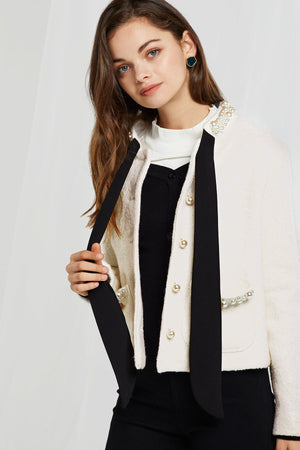 Amelia Pearl Embroidered Jacket