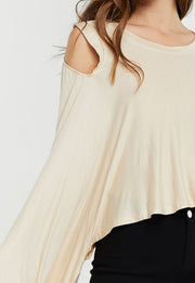 storets.com Vera Waterfall Draped Top-2 Colors