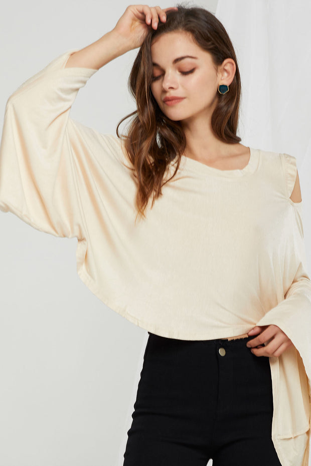 Vera Waterfall Draped Top-2 Colors
