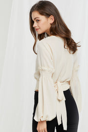 Sandra Tied Peasant Blouse