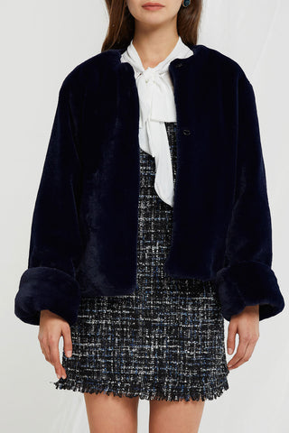 Esther Furry Rounded Jacket (Pre-Order)