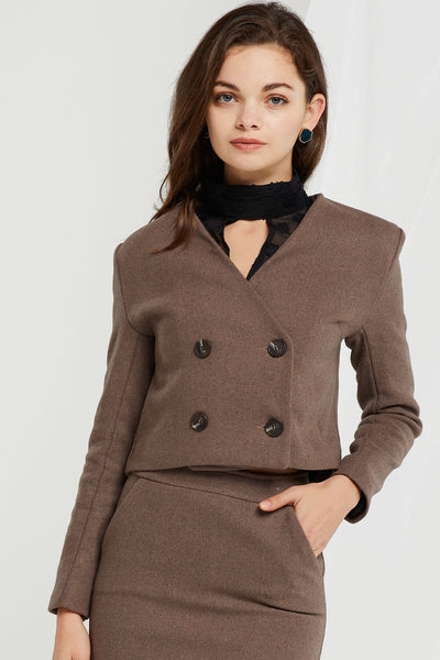 storets.com Molly Cropped Double Jacket