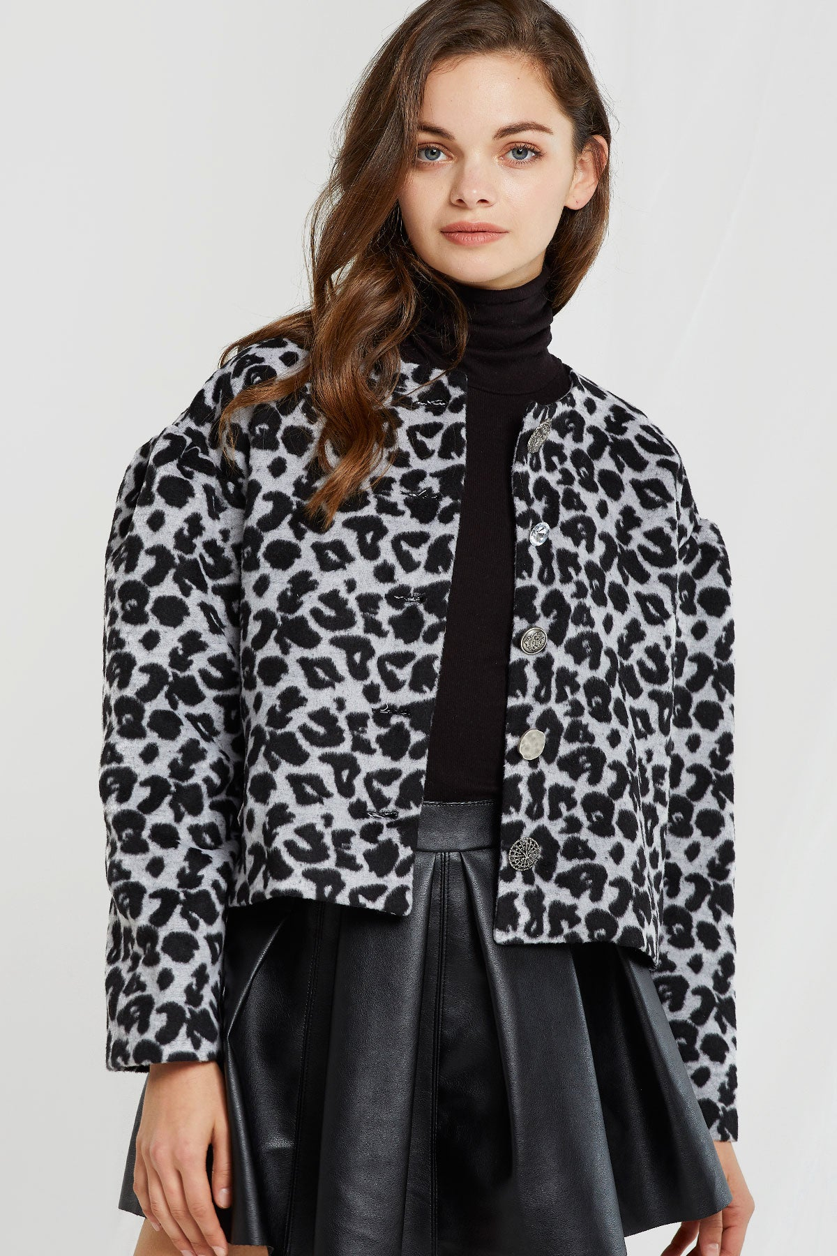 Miri Buttoned Leopard Print Jacket (Pre-Order)