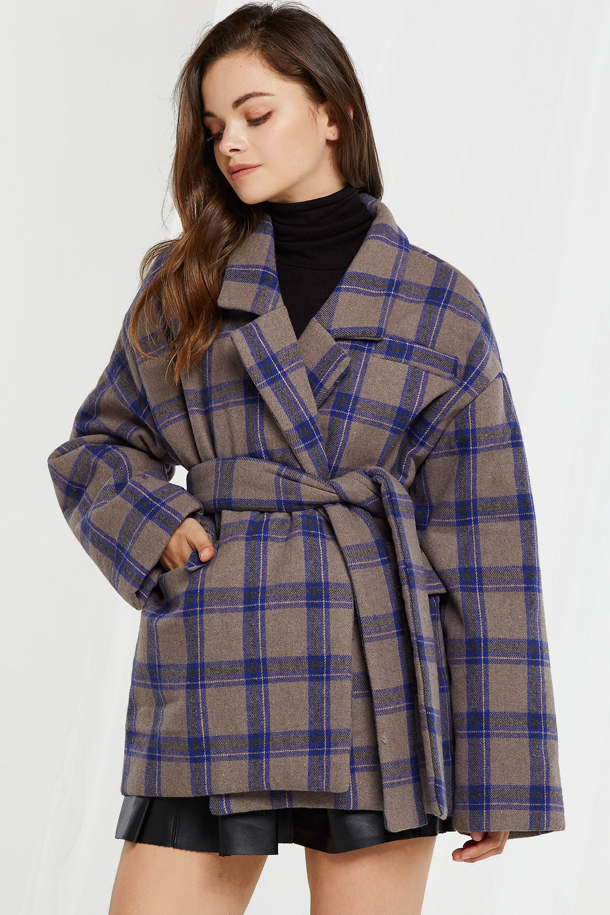 Trina Padded Plaid Coat