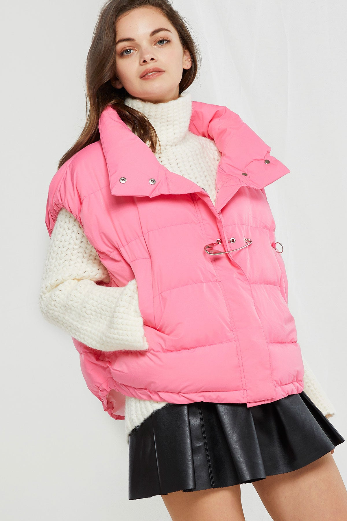 Somi Safety Pin Puffer Vest (Pre-Order)