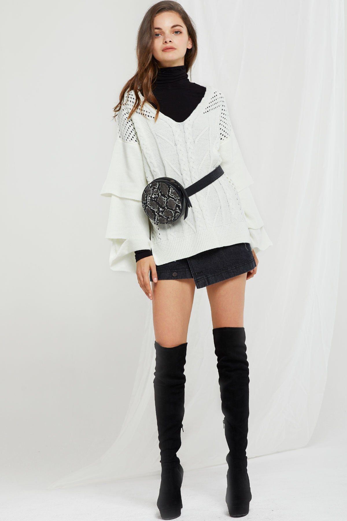 Eliana Textured Knit Sweater (Pre-Order)