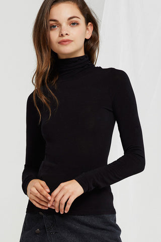 Mindy Sheer Turtleneck Top-2 Colors