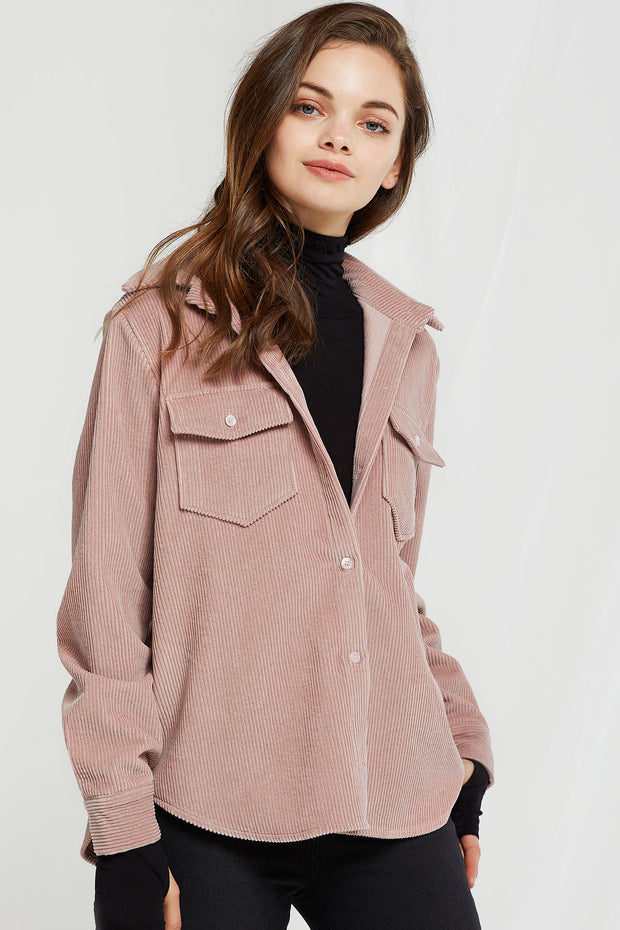 Vivian Corduroy Button Down Shirt