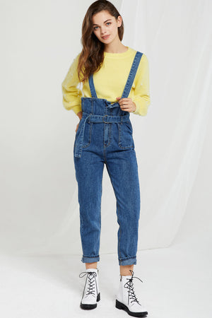 Masha Detachable Suspender Jeans