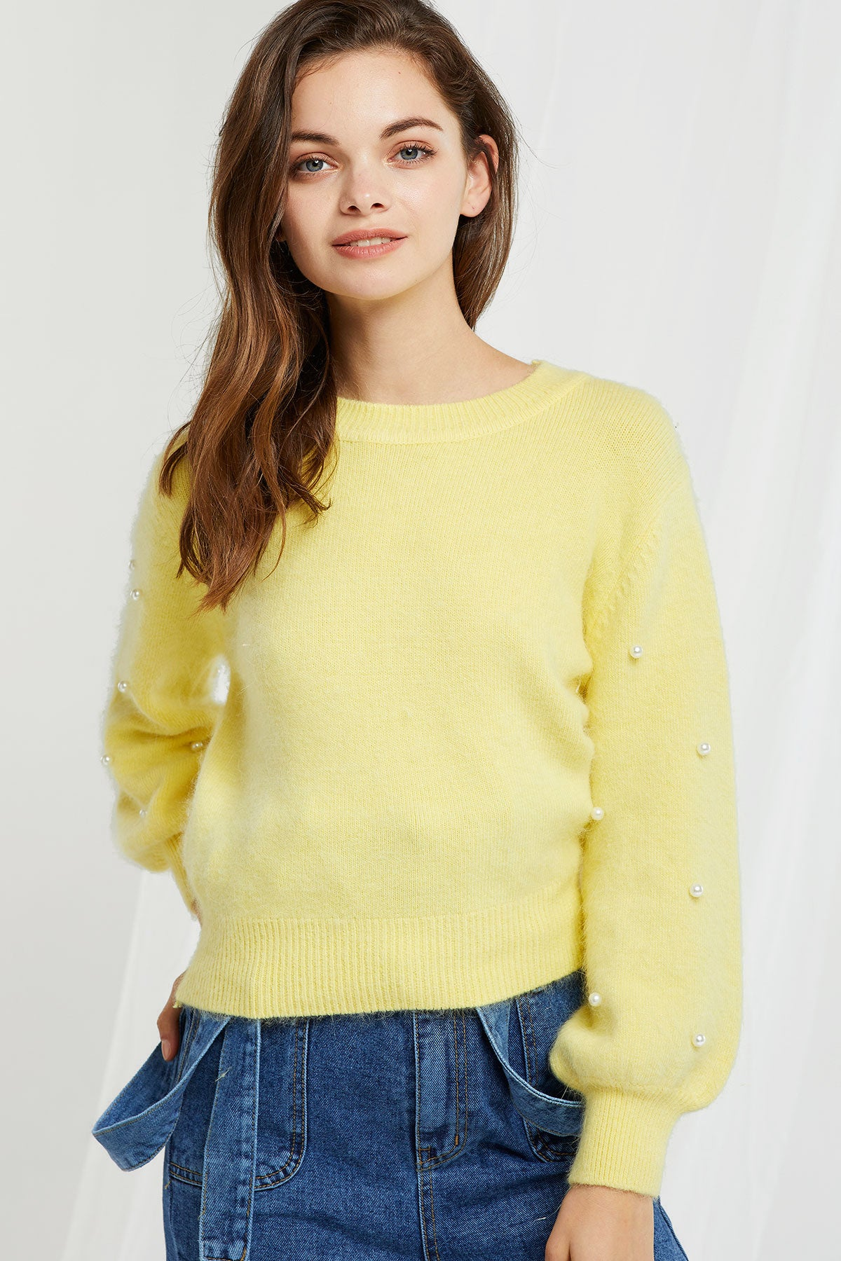 Andrea Pearly Sweater-2 Colors (Pre-Order)