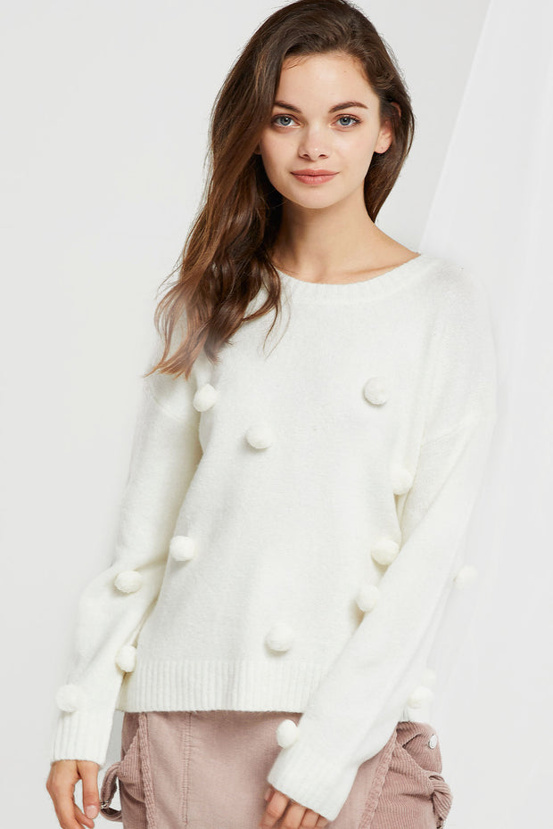 storets.com Linda Puff Sweater-2 Colors