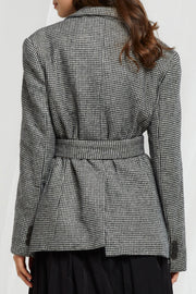 Callie Belted Check Jacket