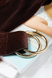 Velvet Double Ring Belt