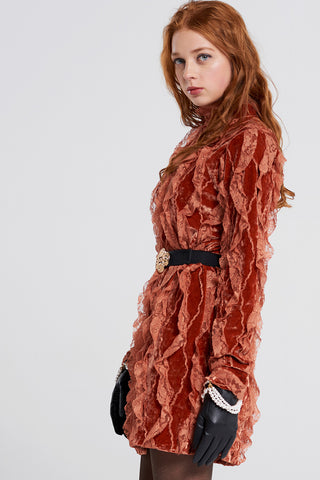 Delphine Ruffle Luxury Dress