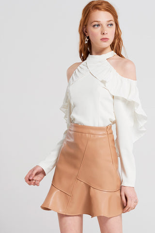 Sadie Ruffle Mini Skirt
