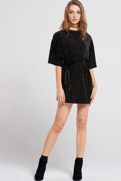 Lisa Shiny Disco Mini Dress