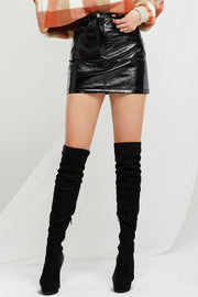 Josephine Pleather Mini Skirt