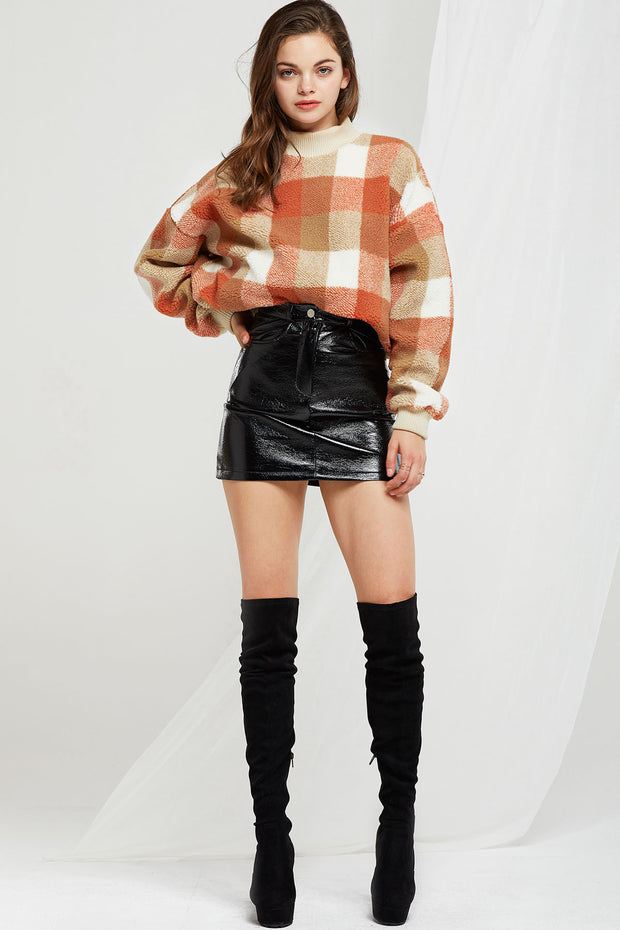 Josephine Pleather Mini Skirt-2 Colors