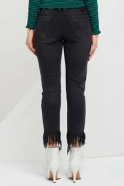 Frida Fringed And Bejeweled Jeans