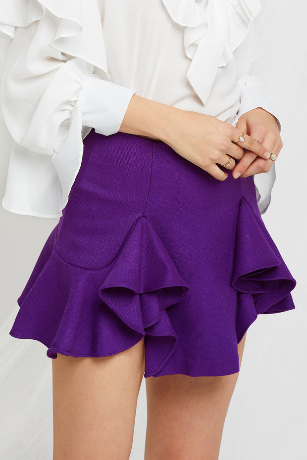 Blake Flounce Mini Skirt