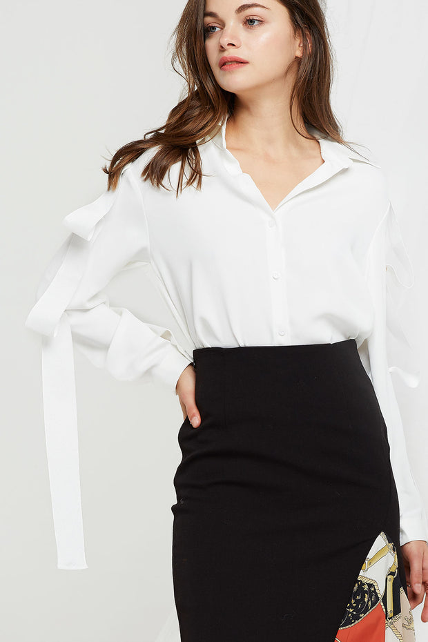 Alana Bottoned String Blouse