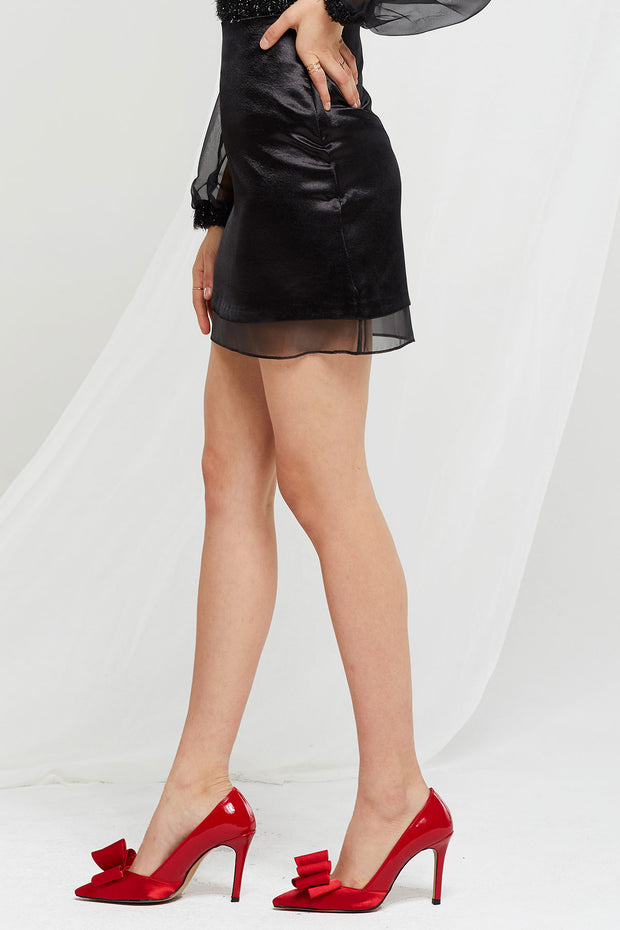 Annabelle Satin Mini Skirt-2 Colors