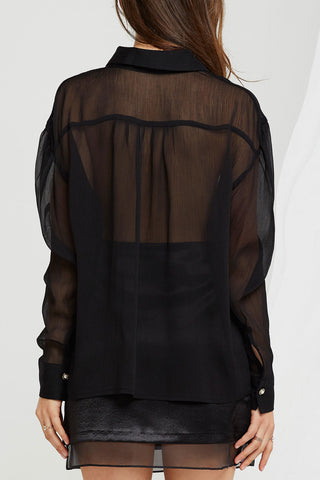Sue Sheer Buttoned Blouse