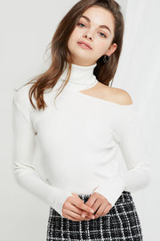Angelica Cutout Turtleneck Top