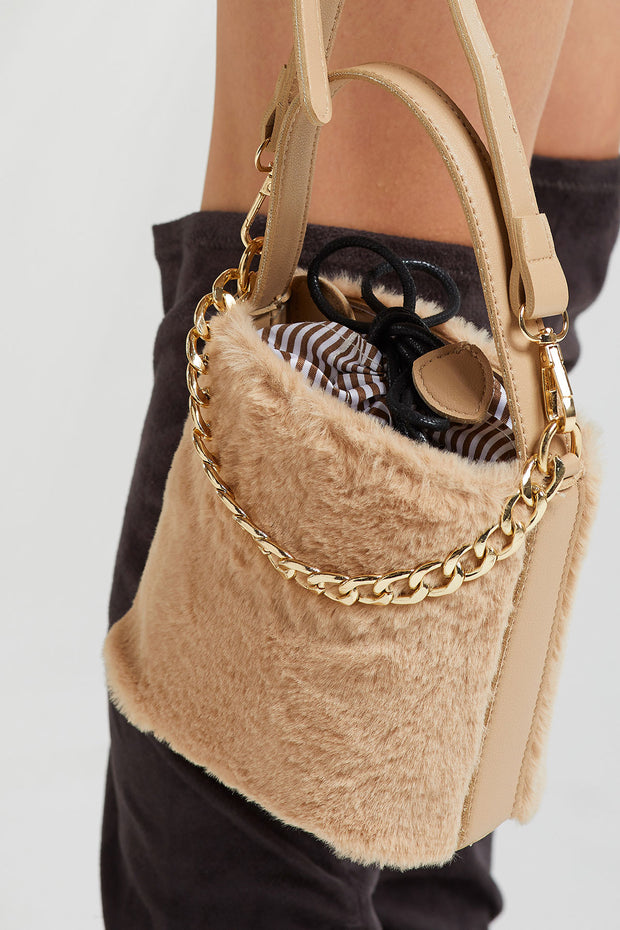 Faux Fur Crossbody Bag-2 Colors