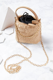 Faux Fur Crossbody Bag(mini size)
