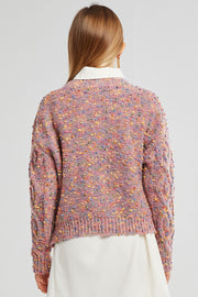 Lucy Mottled Cable Knit Sweater