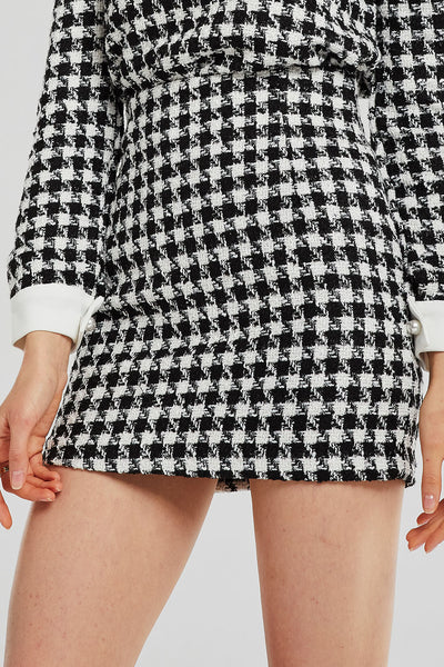 Leah Tweed Mini Skirt