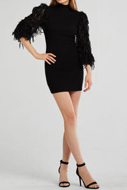 Abigail Fluffy Sleeve Dress