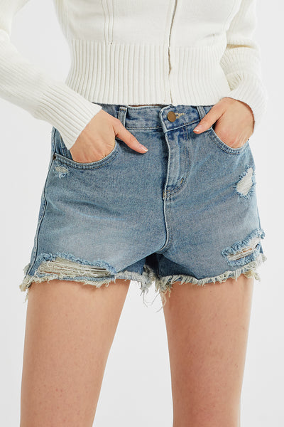Piper Distressed Denim Shorts