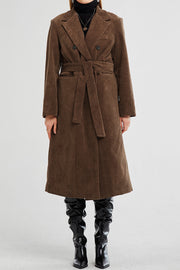 Lillian Cord Long Coat w/Belt