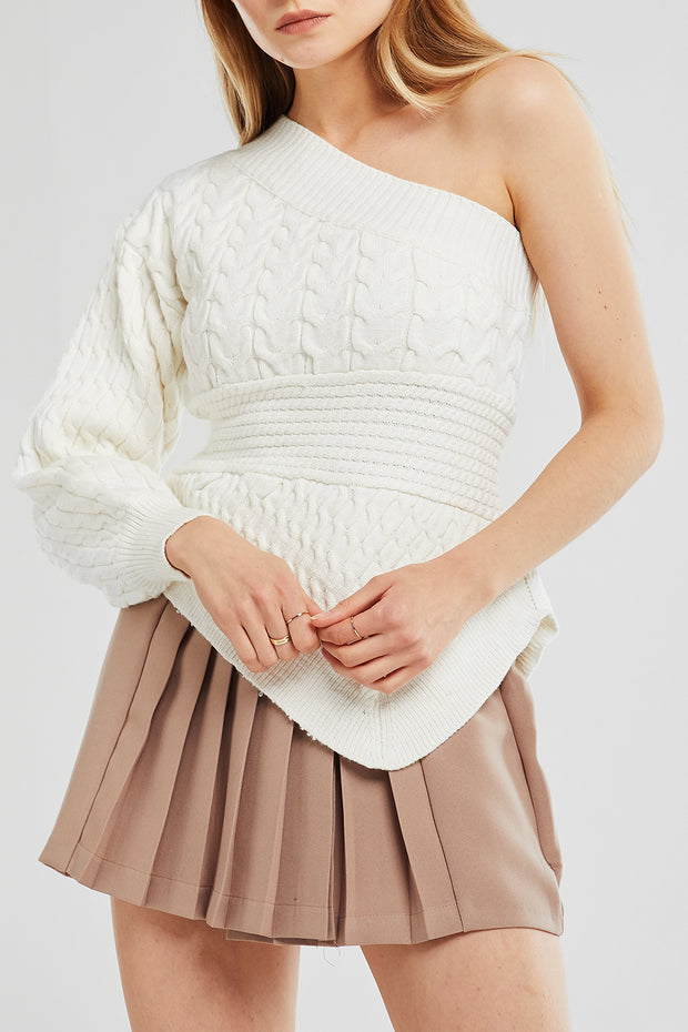 Serenity One Shoulder Knit Top