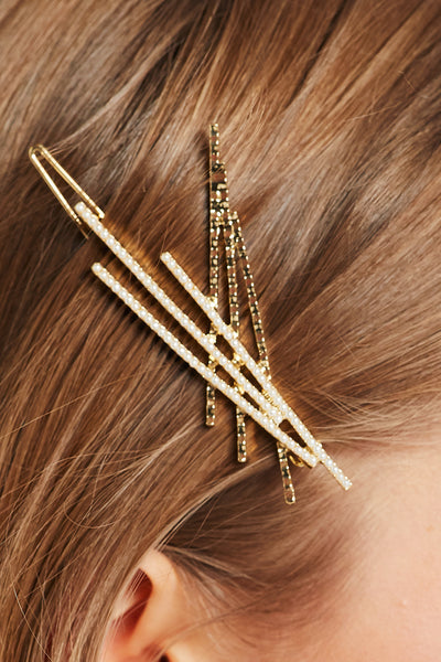 Pearl Embellished Bobby Pin set